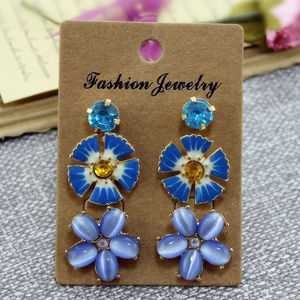 Jewelry - 3 for $30. Mixed set Blue Flower Stud Earrings